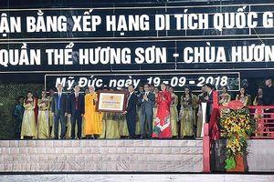 Chùa Hương đón Bằng xếp hạng di tích Quốc gia đặc biệt