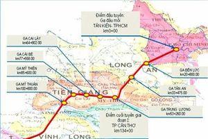 Kiến nghị đổi hướng tuyến đường sắt cao tốc TP.HCM-Cần Thơ