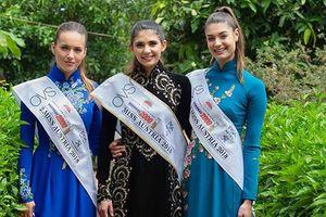 Top 3 Hoa hậu Áo diện áo dài, vui trung thu cùng trẻ em Việt Nam