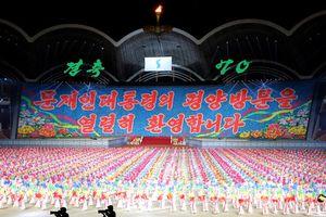 150.000 người Triều Tiên đồng diễn chào mừng Tổng thống Hàn Quốc