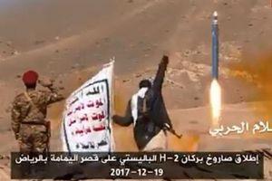 Tên lửa đạn đạo Houthi nã thẳng doanh trại Saudi Arabia