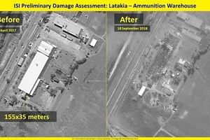 Israel công bố ảnh vệ tinh san phẳng kho vũ khí của Syria