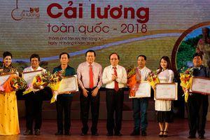 Trao 128 huy chương tại Liên hoan Cải lương toàn quốc 2018