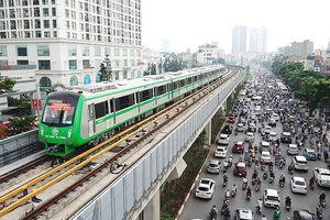 Ngắm tàu đường sắt Cát Linh - Hà Đông từ trên cao