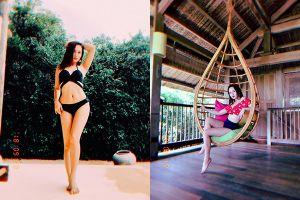 'Con dâu' Bảo Thanh khoe dáng nuột nà với bikini