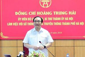 Bí thư Thành ủy Hà Nội Hoàng Trung:Xây dựng 'Thành phố thông minh' từ những việc làm cụ thể