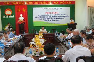 Thừa Thiên - Huế: Phát động thi đua chào mừng Đại hội Mặt trận các cấp