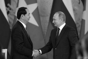 Tổng thống Nga, thủ tướng Nhật thương tiếc sự ra đi của Chủ tịch nước