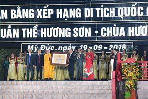 Quần thể danh thắng Hương Sơn - Chùa Hương đón nhận bằng xếp hạng di tích Quốc gia đặc biệt