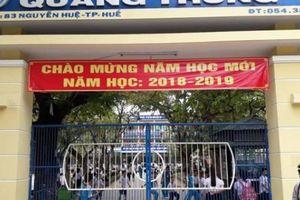 Huế: Thu phí 'trật tự cổng trường' với học sinh tiểu học là sai!