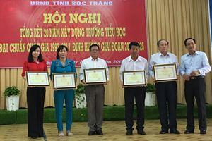 Sóc Trăng: Tổng kết 20 năm xây dựng trường tiểu học đạt chuẩn quốc gia