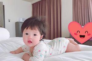 Lần đầu lộ ảnh cận mặt siêu đáng yêu của con gái Đặng Thu Thảo