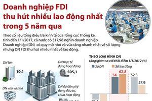 Doanh nghiệp FDI thu hút nhiều lao động nhất