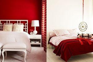 Cách bày trí phòng ngủ với gam màu đỏ để lúc nào cũng nồng nàn lửa yêu