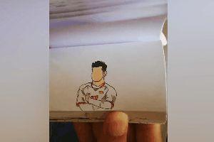 9X tái hiện khoảnh khắc ăn mừng của Văn Thanh qua 140 tranh vẽ