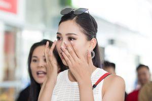 Hoa hậu Trần Tiểu Vy bật khóc khi trở về quê hương Quảng Nam