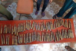 Hà Tĩnh: Làm vườn, phát hiện 85 viên đạn 12ly7