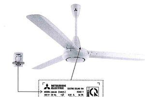 Cảnh báo quạt trần Mitsubishi Electric có nguy cơ rung lắc bất thường, tuột khỏi móc treo
