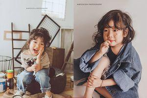 Bộ ảnh cô bé 4 tuổi 'diễn' như người mẫu chuyên nghiệp