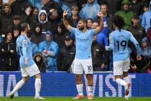 Tân binh khai hỏa, Man City trút mưa bàn thắng vào lưới Cardiff
