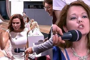 Nữ diễn viên tát tới tấp khán giả trên sóng truyền hình