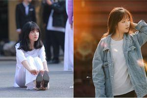 Mặc áo dài ngồi bệt xuống đất nữ sinh Hà Nội bị truy tìm vì quá xinh