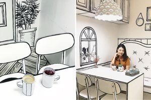 Quán cà phê kỳ lạ ở Seoul khiến bạn có cảm giác như bước vào thế giới truyện tranh
