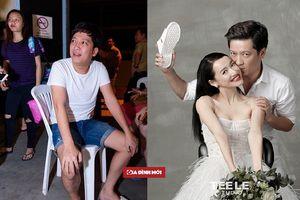 Diện dép tổ ong ngay cả trong ảnh cưới chắc showbiz Việt có duy nhất Trường Giang