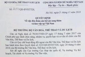 Đón đoàn cán bộ Lào sang thăm và làm việc tại Việt Nam