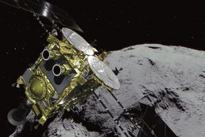 Robot Nhật Bản vừa đáp xuống tiểu hành tinh và chụp những bức ảnh này