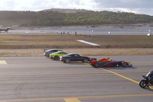 Cuộc đua thú vị giữa siêu xe, siêu môtô và máy bay phản lực