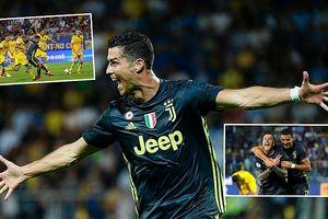 Ronaldo ghi bàn chuộc lỗi với Juventus