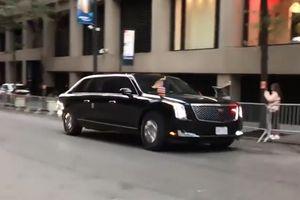 Không dùng 'quái thú', ông Donald Trump lần đầu di chuyển bằng Limousine