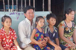 Vợ tảo tần nuôi chồng bệnh và 3 con nhỏ nheo nhóc