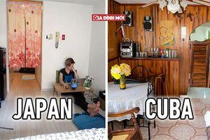 Ngôi nhà điển hình khắp nơi trên thế giới trông thế nào? Nhật Bản nhỏ như phòng trọ