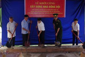 Làm nhà đồng đội tặng gia đình Đại úy Nguyễn Đình Tài
