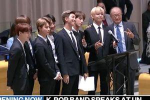 Nhóm nhạc K-pop đầu tiên được phát biểu trực tiếp tại LHQ