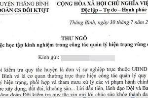 Quảng Nam lên tiếng việc đội Kiểm tra quy tắc gửi thư xin tiền doanh nghiệp