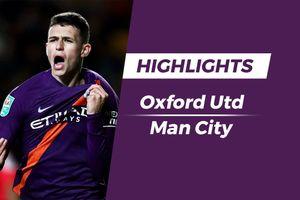 Highlights sao trẻ tỏa sáng, Man City dễ dàng thắng Oxford Utd