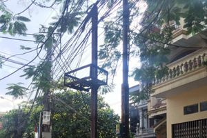 Hải Phòng: Sửa chữa cột đèn chiếu sáng đảm bảo mỹ quan đô thị