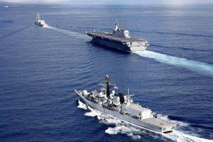 Tàu sân bay trực thăng Nhật, chiến hạm Anh đi qua Biển Đông