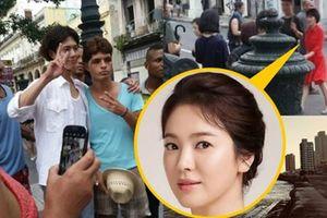 Song Hye Kyo và bạn diễn kém 12 tuổi quay phim ở Cuba