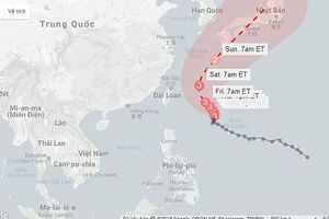 Siêu bão Trami xuất hiện ở tây Thái Bình Dương