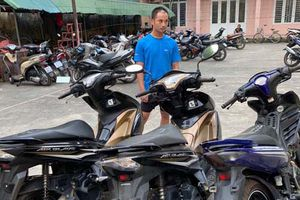 9x lẻn vào bãi gửi xe bệnh viện trộm cắp hàng chục xe máy