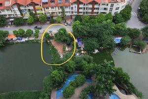 Công an quận Hà Đông phản hồi tình trạng lấn chiếm Hồ Ngòi