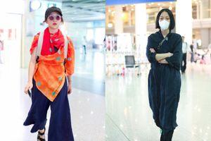 Đường đường là 'tứ đại Hoa đán' nhưng thời trang sân bay của Châu Tấn bị chê thảm