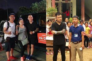 Bùn lún hơn nửa bánh xe, Tuấn Hưng cùng bạn bè vẫn lên Hà Giang giúp đỡ đồng bào trong đêm