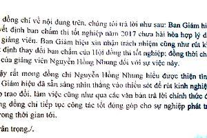 Vụ 'lùm xùm' giữa giảng viên Nguyễn Hồng Nhung và trường Cao đẳng nghệ thuật Hà Nội: Ban Giám hiệu nhận trách nhiệm