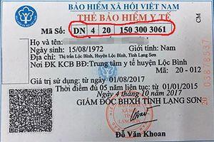 Quyền lợi được hưởng thông qua ký tự trên thẻ BHYT mới