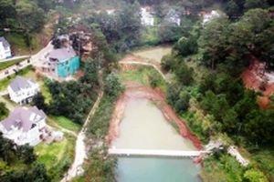 Phá dỡ công trình trái phép tại Khu du lịch hồ Tuyền Lâm